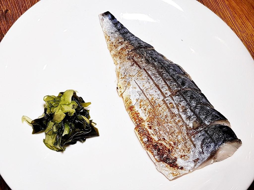 Shime Saba Aburi / Flame-Seared Cured Mackerel Fish