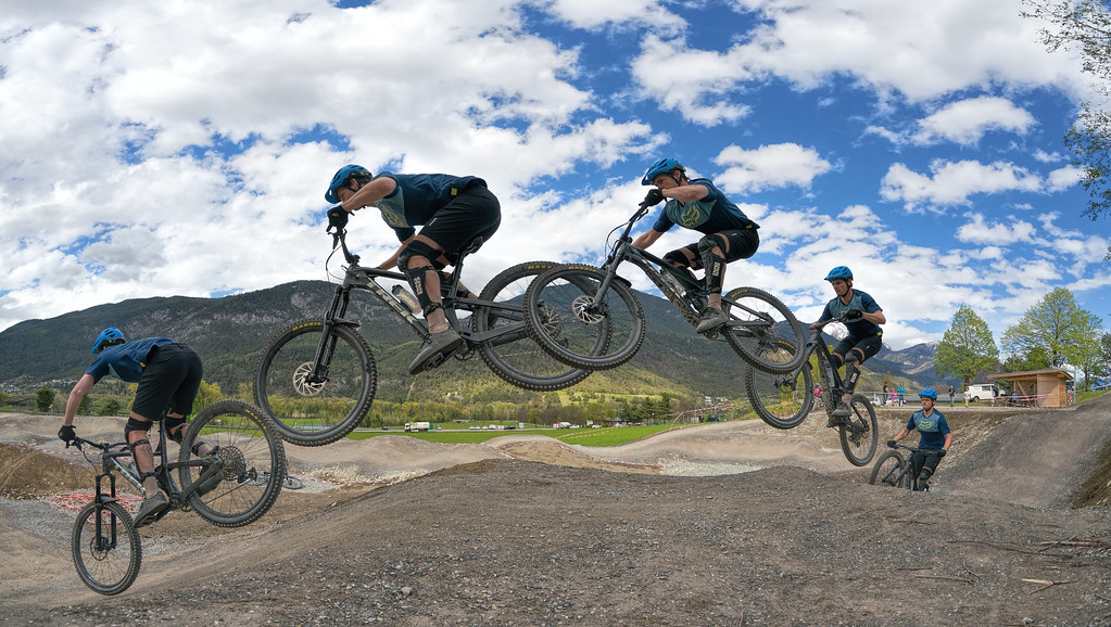 Action im Bike Park