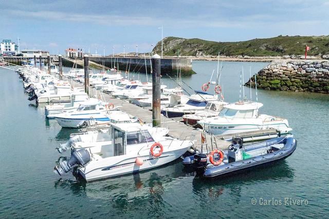 Puerto deportivo de Suances.
