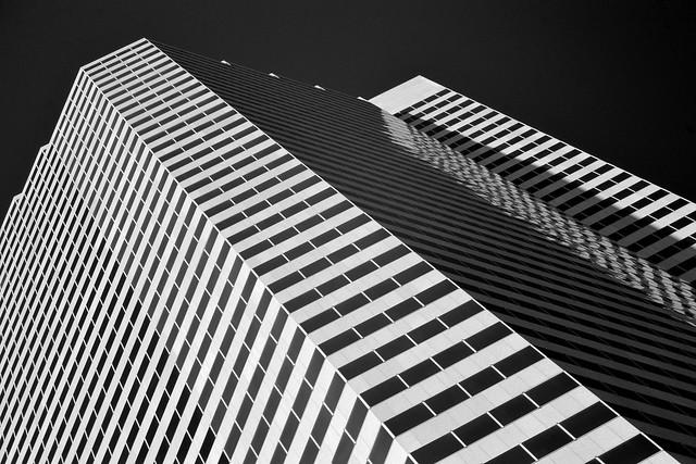 Fulbright Tower, Houston (infrared)
