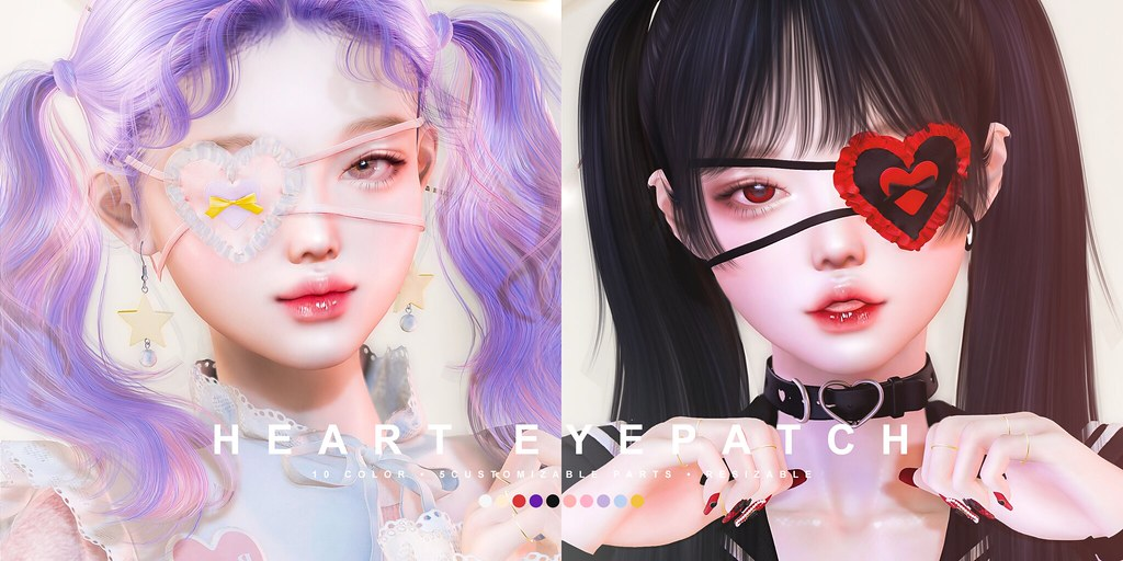 cheezu. heart eyepatch x ota.con