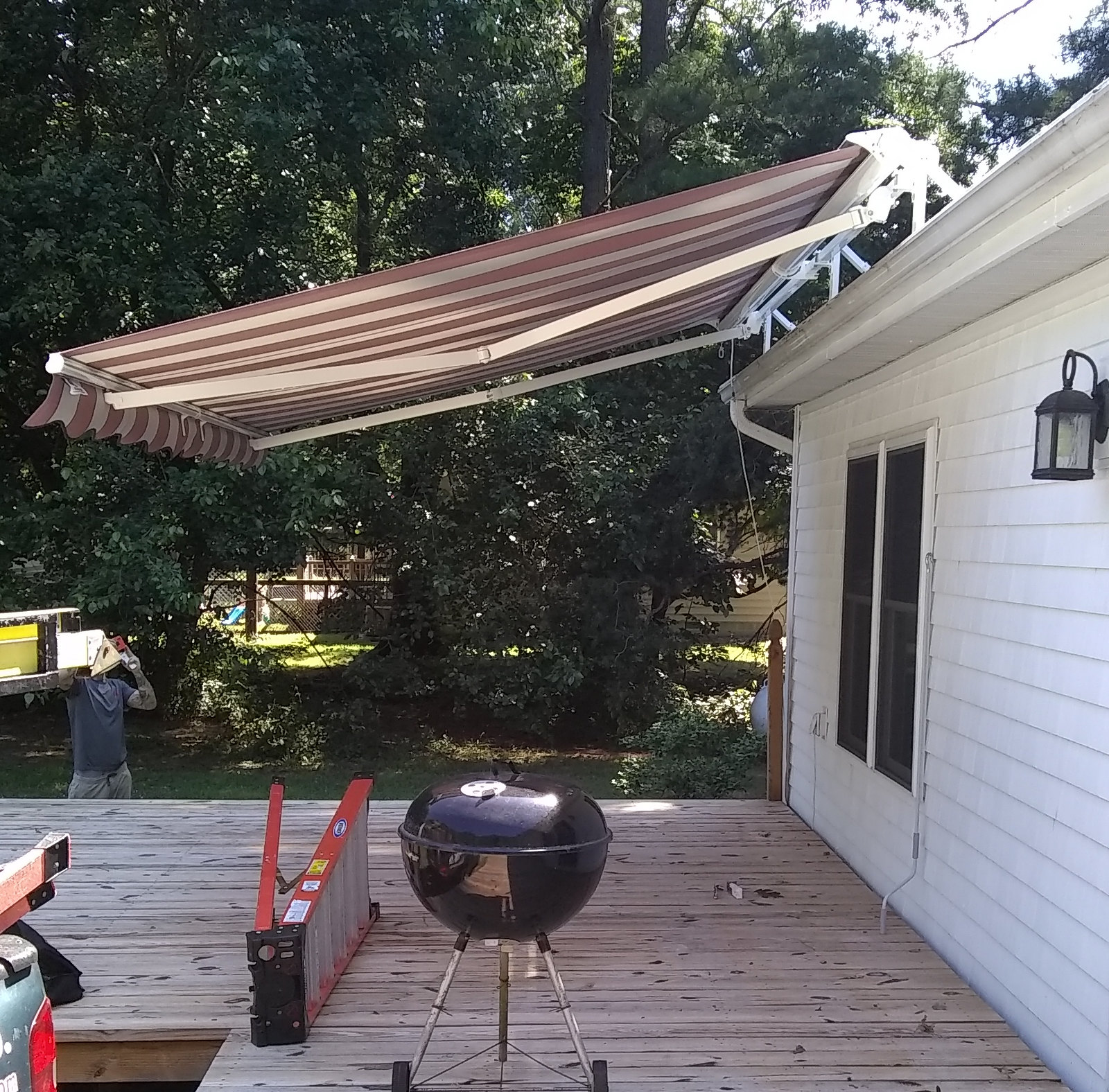 Deck Retractable Awning - Hoffman