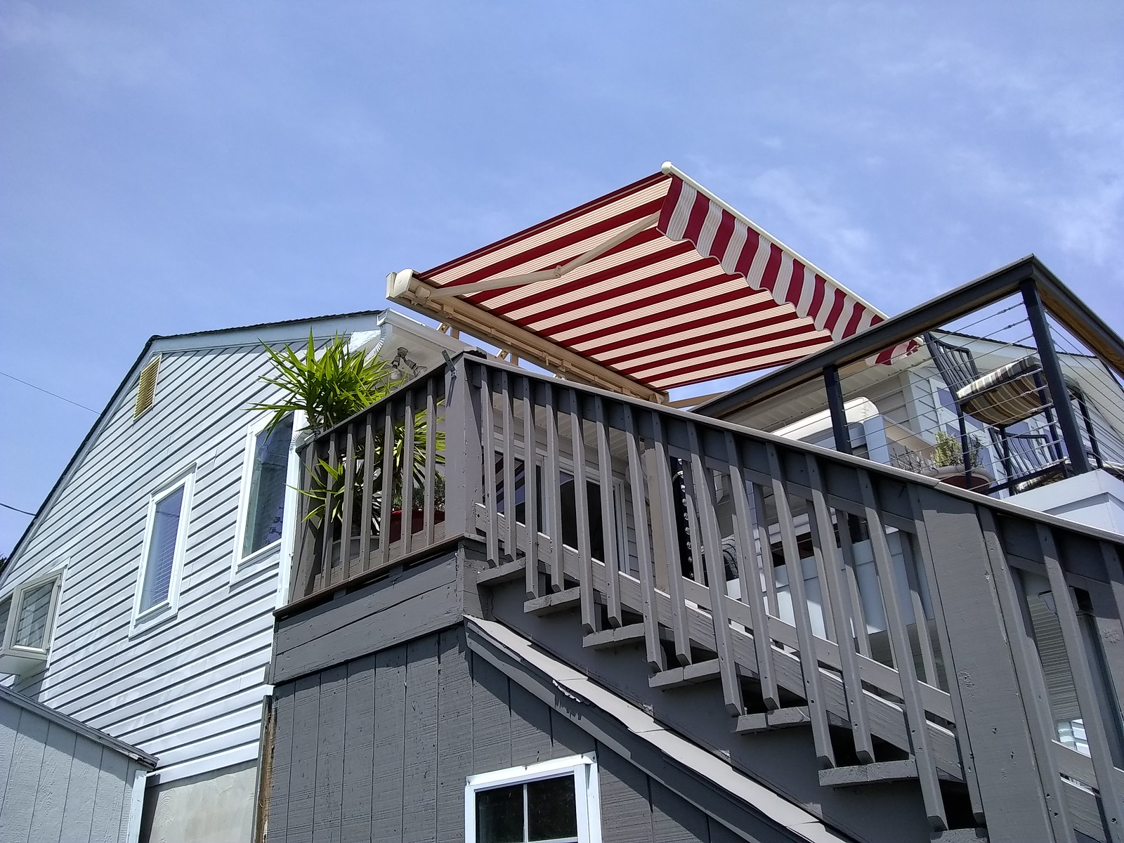 Red and White Striped Awning-Hoffman