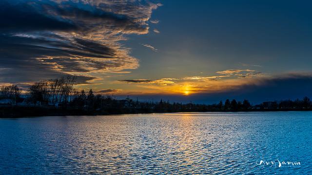 Coucher de soleil du 1er mai au réservoir Beaudet