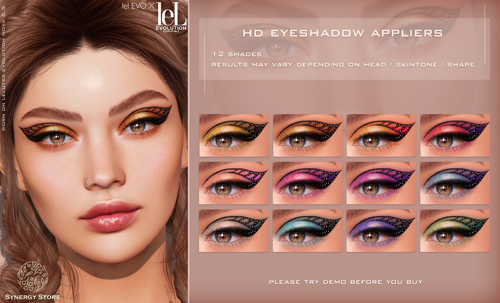 Synergy - Lelutka HD Eyeshadow Applier for EVO/EVO X heads - Blaenau♥