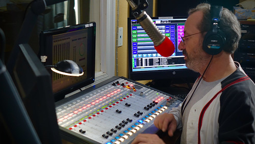 Ron Phillips on the air. Photo by Tom Roche.
