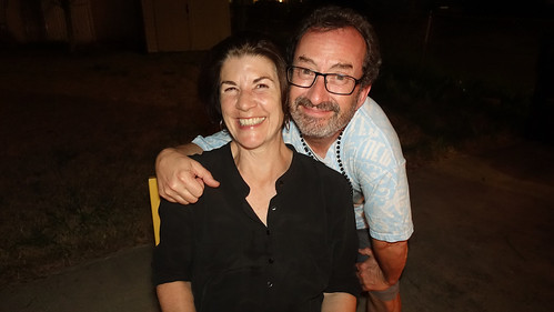 Ron Phillips with writer/radio host Amy Dickenson. Photo by Tom Roche.