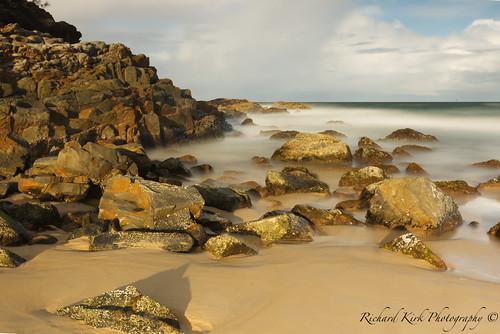 australia queensland sunshinebeach sand beach rocks cliffs sea clouds sky canon canon5dmkiii ndfilter longexposure landscape seascape coast timeexposure