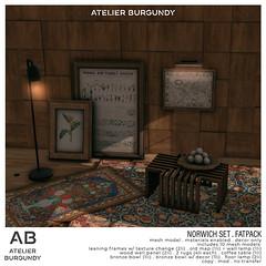 Atelier Burgundy . Norwich Set FATPACK