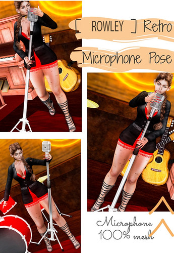 [ROWLEY]  Retro Microphone  Poses