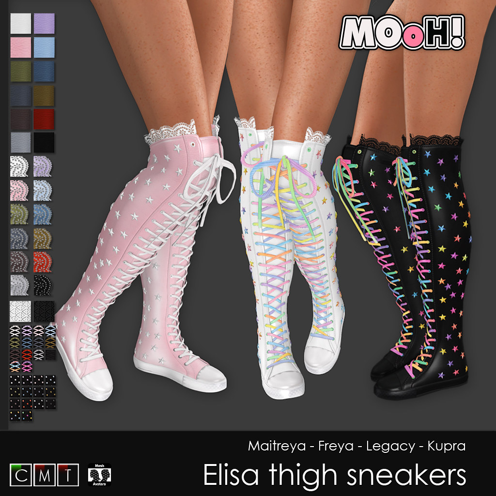 Elisa thigh sneakers