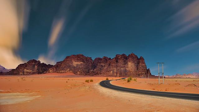 The Road to Wadi RUM - Jordan.
