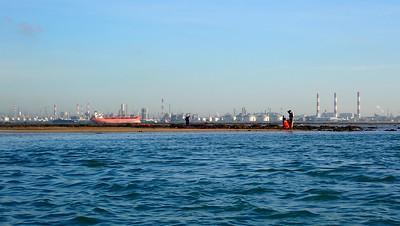 Shipping and Jurong Island off Terumbu Pempang Tengah