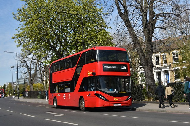 Go-Ahead London: Ee9 | LF20XLK || 106: Finsbury Park - Whitechapel