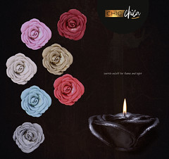 Rose candles by ChicChica @ Anthem