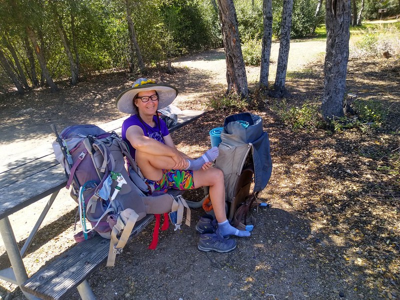 It was nice to have a picnic table at an actual campsite at Silverwood Lake State Park. That's a $45 picnic table!