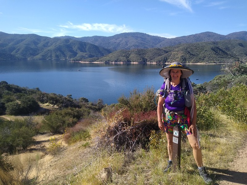 We made it over the hill to Silverwood Lake - now all we have to do is hike halfway around it!