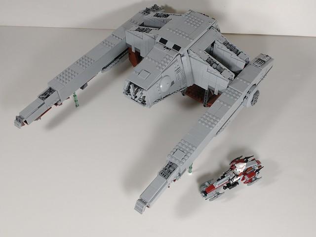 Lego minifig scale at hauler plus barc speeder