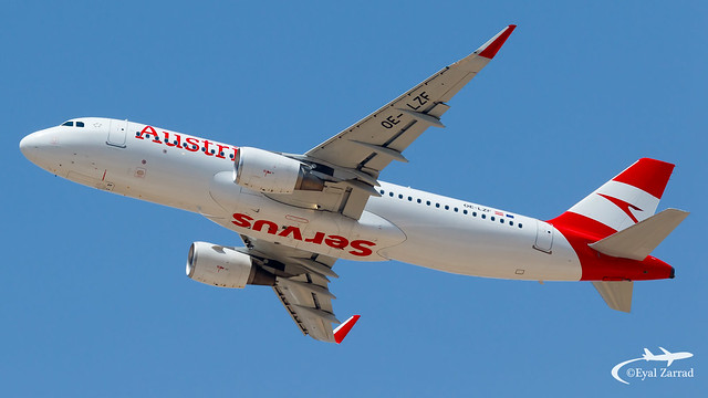 TLV - Austrian Airlines Airbus A320 OE-LZF