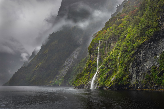 Waterfall in Doubtful Sound
