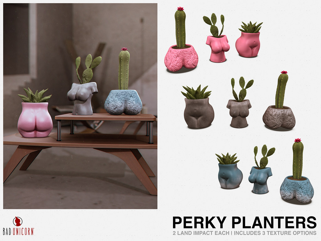 NEW! Perky Planters @ FaMESHed