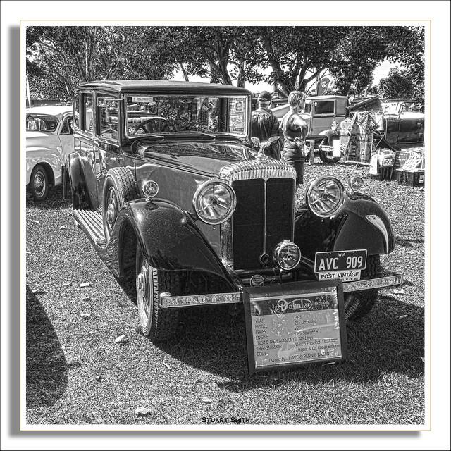 1935 Daimler 215 Limousine, 2021 Classic Car Show, Ascot Racecourse, Grandstand Road, Ascot, Perth, Western Australia