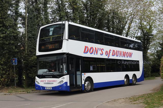 BIG8728 (ex LW55AHV;GL02BUS;LW55AHV;05-D-70001) Dons Coaches, Great Dunmow 27.4.21