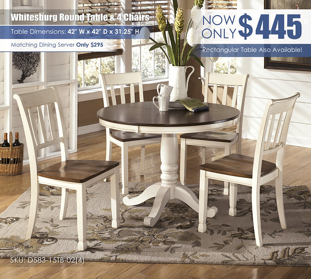 Whitesburg Round Dining Table & 4 Chairs_D583-15TB-02(4)-SD_Update