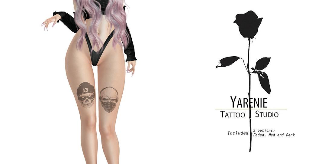 Skull Legs Tattoo