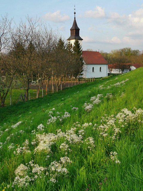Calvinist church along the dyke of the Tisza River