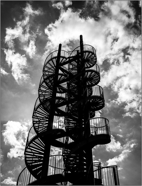 The (real) Stairway to Heaven - in bw