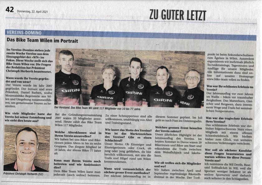 Wiler Nachrichten Vereins-Domino