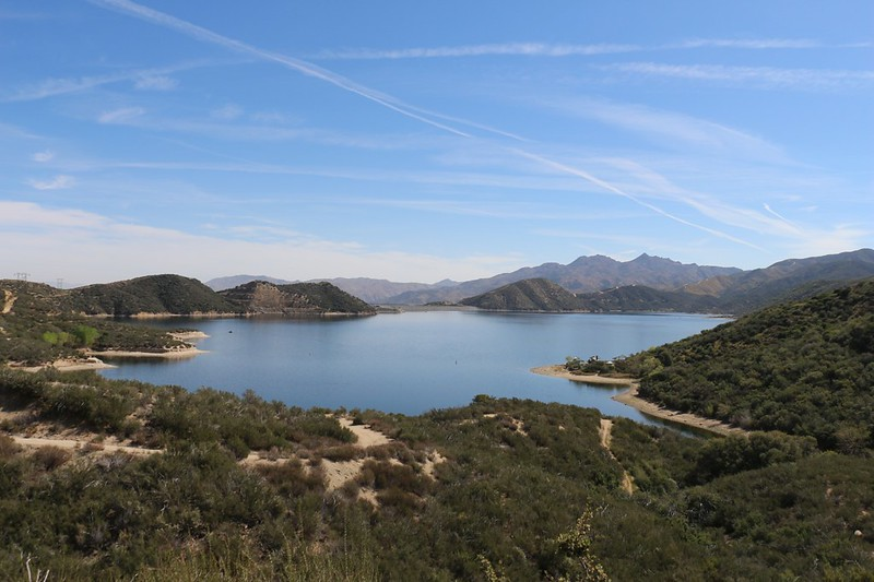 We left the PCT and took a dirt road that was a shortcut to the Silverwood Lake Campground