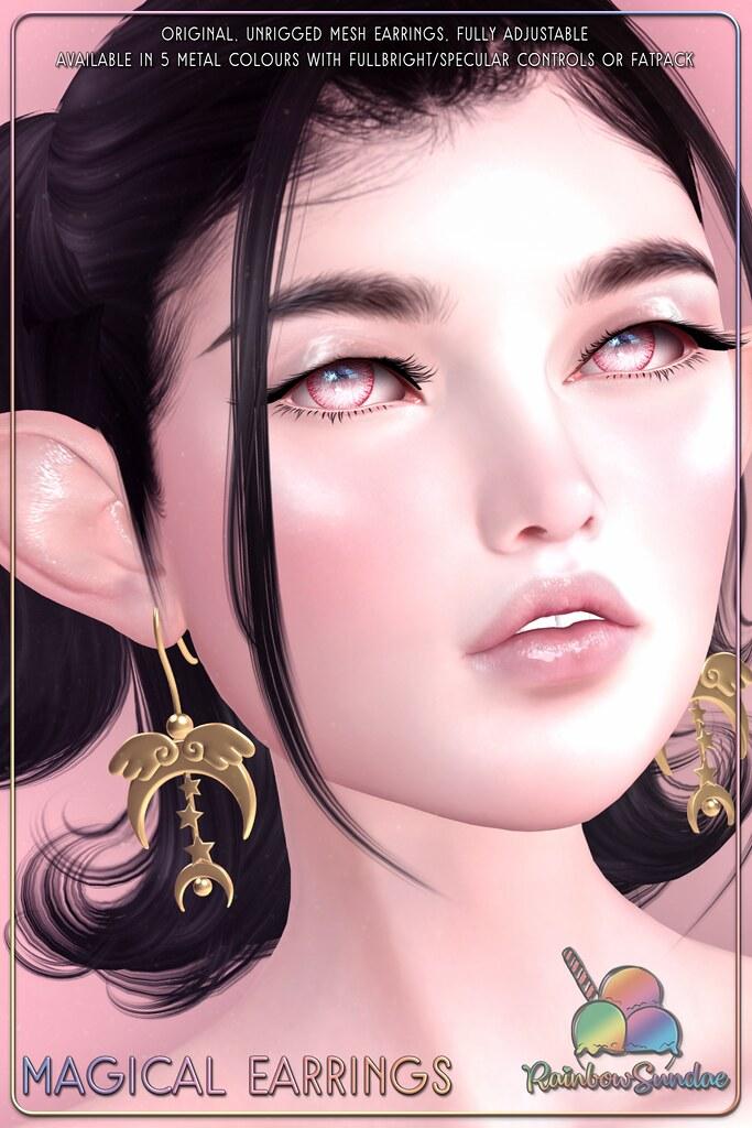 *Rainbow Sundae* Magical Earrings