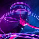 """She did the light-painting using leds attached to her ankles 🙂  Behind the scenes: <a href=""""https://youtu.be/Q-IMnAtX7J0"""" rel=""""noreferrer nofollow"""">youtu.be/Q-IMnAtX7J0</a>"""