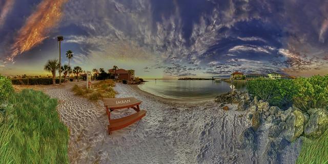Stunning Sky, Serene Seaside, Subtle Sunset, Soft Sand, Spectacular Scene (360°x360°) - IMRAN™ (My 103rd Explore!)