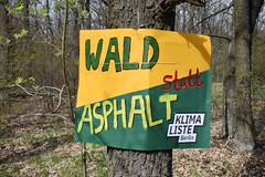 26.04.2021: Keine neuen Straßen durch unseren Wald – TVO verhindern!
