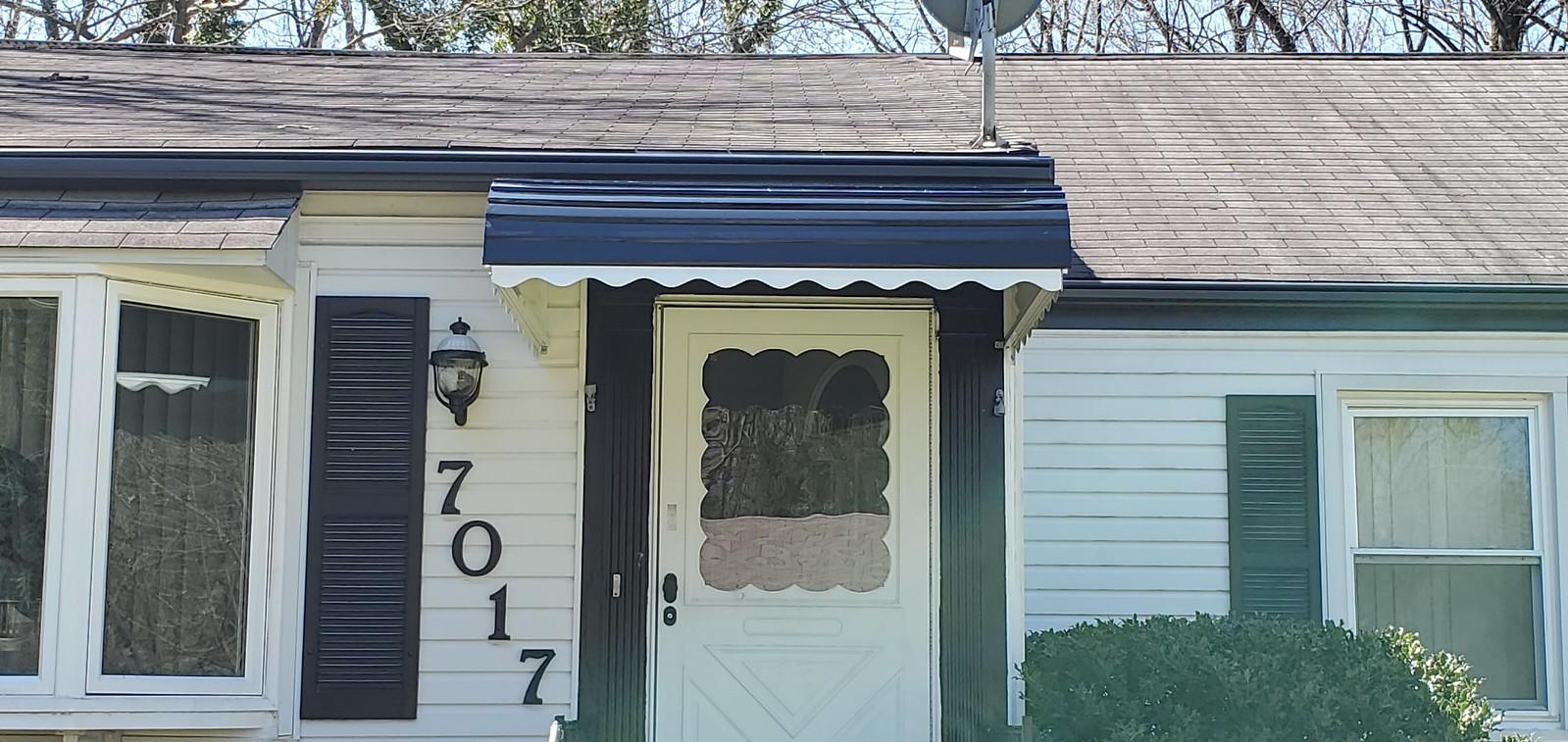 Black Doorway Awning
