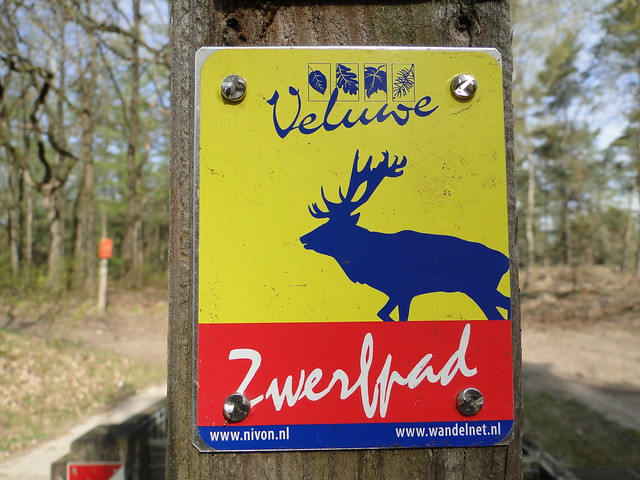 Trail sign of the Veluwe Zwerfpad