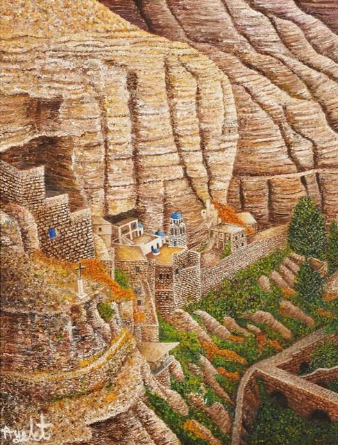 ציור פוינטליסטי בנקודות ציורי נקודות  איילת בוקר היוצרות הישראליות ציירות  העכשוויות האמניות המודרניות