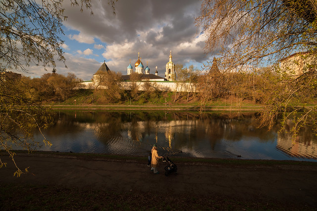 Spring evening in Moscow