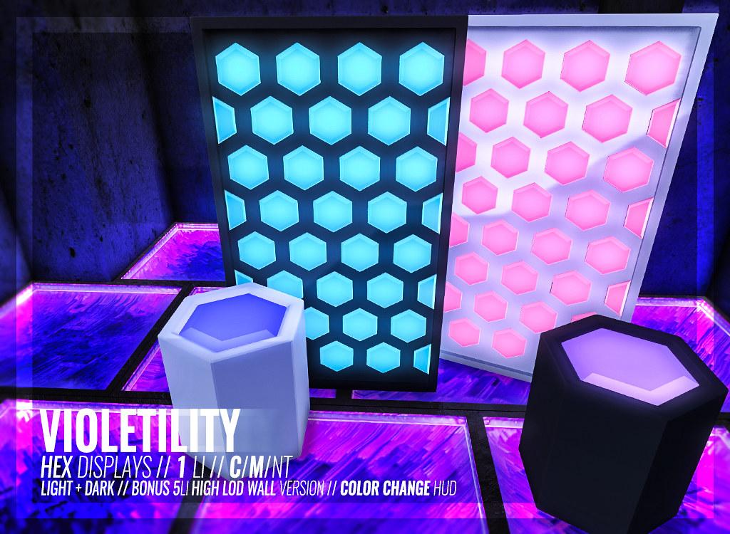 Violetility - Hex Displays
