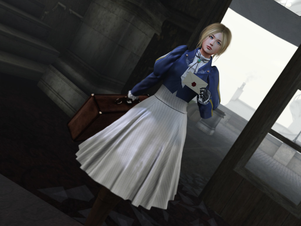 EXiA Violet Dress with Jacket