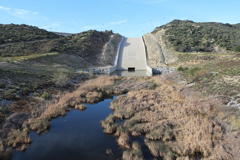 The Silverwood Lake Spillway from the bridge on Highway 173