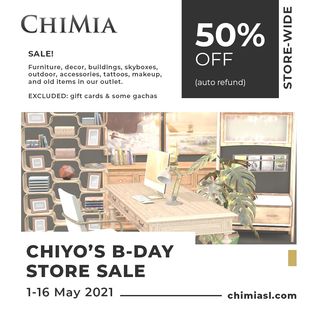 50% Refund Store-wide Sale: May 2021 by ChiMia