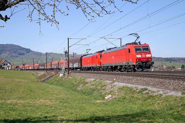 DB Cargo 185 098 + 185 120 Frick