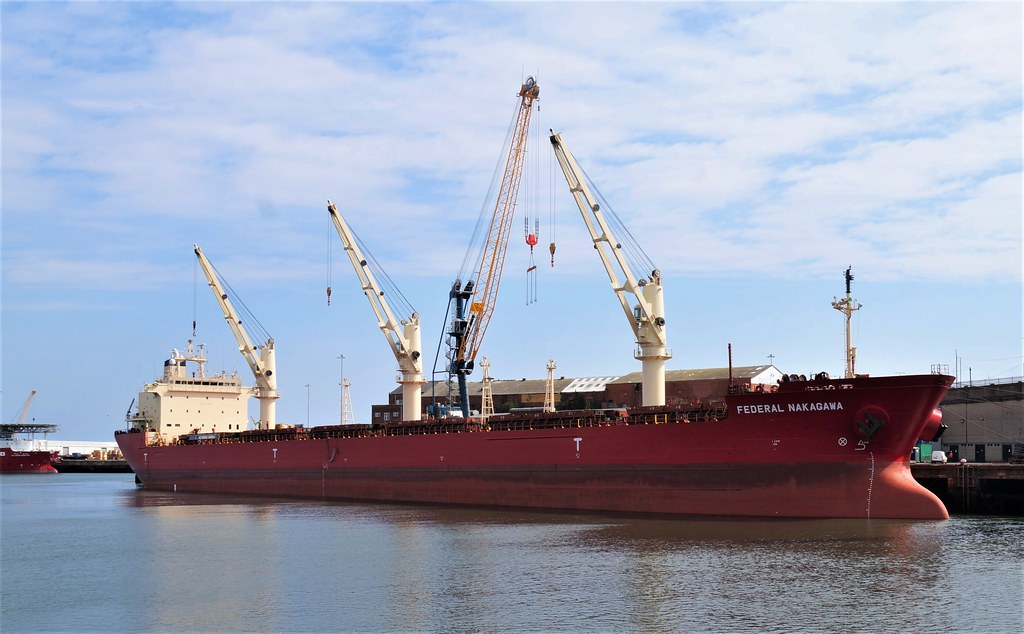 1 DSC08036 (2). Bulk Carrier FEDERAL NAKAGAWA, Corporation Quay, River Wear, Port of Sunderland.