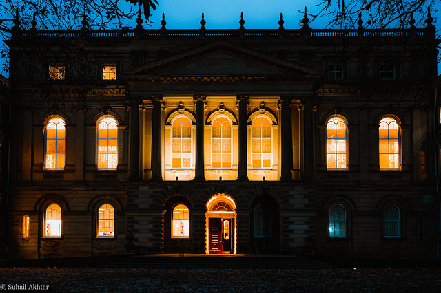 Glowing Windows at Osgoode Hall in Toronto
