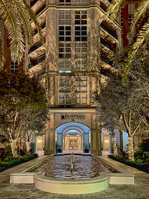 CityPlace South Tower, 550 Okeechobee Boulevard, West Palm Beach, Florida, USA / Built: 2009 / Architect: Roger Fry & Associates Architects, PA / Floors: 20 / Height: 238.18 ft / Building Usage: Residential Condominium / Architectural Style: Postmodernism