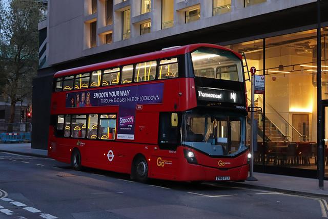 Route N1, Go Ahead London, WHV149, BV66VJJ